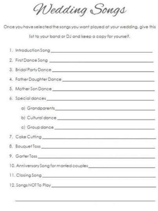Wedding Reception Timeline Free Printable 53 Best Ideas Wedding Reception Timeline Wedding Songs First Dance Wedding Songs