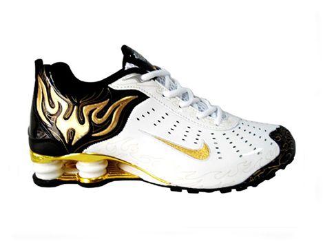 ... men nike shox torch shoes white/black/golden cheap nike shox r4  torch_discount nike