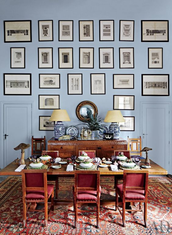 Blues and reds mix seamlessly together in this collection of bold, color-forward interiors from our archives: