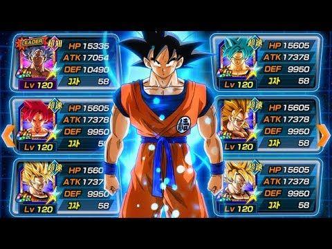 Full Goku Transformation Team Full Goku Evolution Team Dbz Dokkan Battle Youtube Goku Evolution Goku Transformations Battle