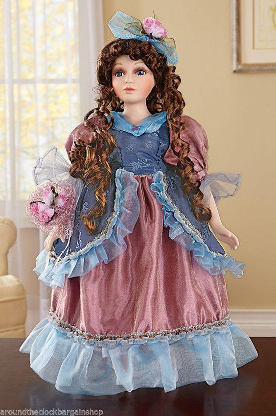 valencia victorian porcelain collectible doll victorian