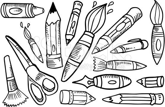 art supplies doodle - Google Search