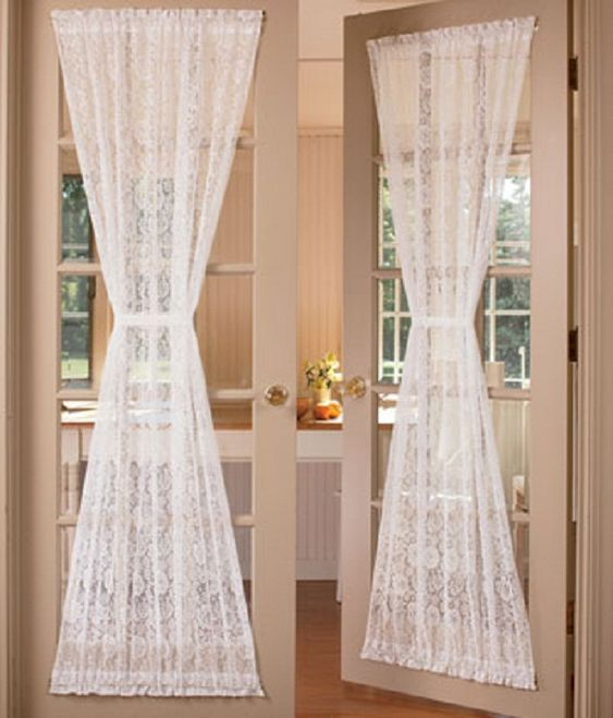 French Door Curtains Door Curtains And French Doors On