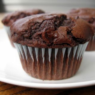 Amazing, chocolatey, deliciousness....and totally not healthy:) the nonpareil baker: Double Chocolate Chip Muffins