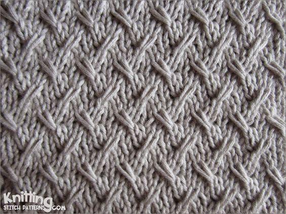 Slip Knitting Stitches Instructions : slipped-stitches Knitting Stitch Patterns Knit - Stitch Patterns Pinter...