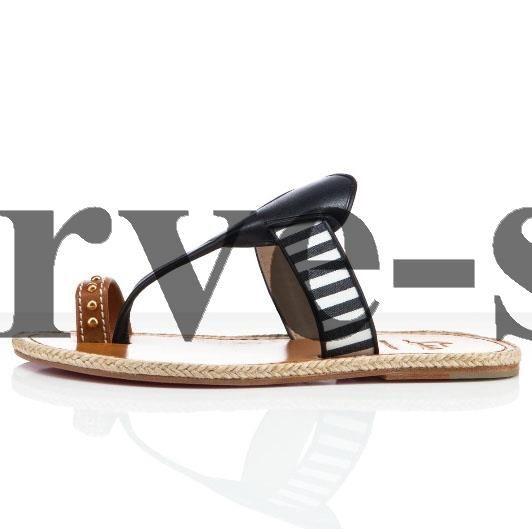 Christian Louboutin Hola nina Flat Sandals Navy