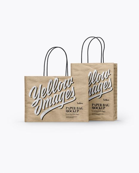 Download Two Kraft Paper Bags Mockup Half Side View In Bag Sack Mockups On Yellow Images Object Mockups Bag Mockup Mockup Free Psd Free Psd Mockups Templates
