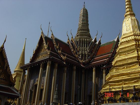 Main Building in Wat Phra Kaeo by, Bangkok, Thailand