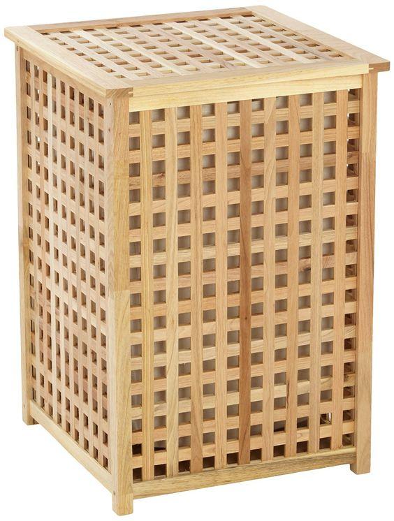 Wenko 18602100 Wäschetruhe Nordic - mit Wäschesack, Holz, Braun: Amazon.de: Küche & Haushalt