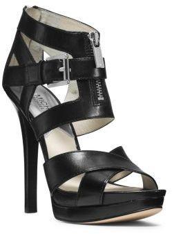 MICHAEL Michael Kors Anya Leather Platform Sandal on shopstyle.com