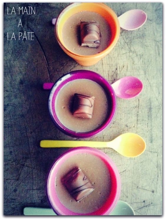 Petites crèmes aux Kinder Bueno