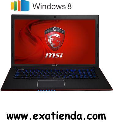 "Ya disponible Nb MSI ge70 2od 247es i7 4700m 4gb/1tb/17.3""/w8.1/64      (por sólo 1120.79 € IVA incluído):   -Procesador:Intel Core i7 - 4700M/2.4GHz (turbo 3.4GHz) -Memoria:4GB DDR3 1600MHz (max. 16GB) -Hdd:1TB SATA -Óptico:SuperMulti DVD -Pantalla:TFT LED 17.3"" Full HD, Anti-Glare (1920 x 1080) -Graficos:nVidia Geforce GTX760M, 2GB GDDR5 de memoria -Webcam:Integrada -Conectividad: *Lan:Killer Gaming LAN *Wifi:802.11 b/g/n con Wireless Display 2.0 *Bluetooth:v 4.0 -Sist"