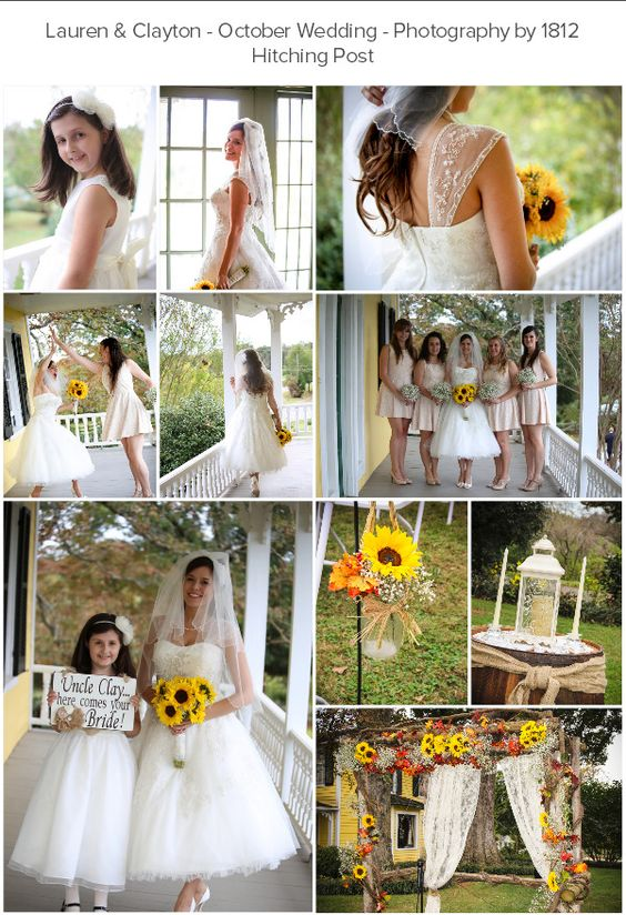 Lauren & Clayton's wedding with sunflowers & babies breath