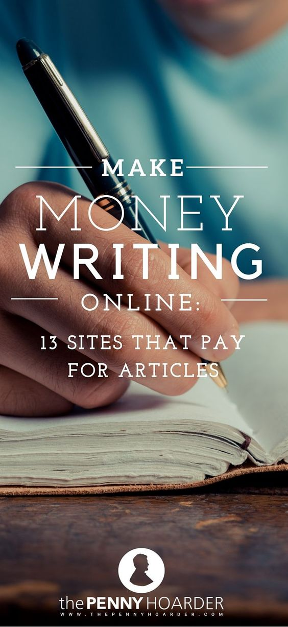Sites that pay you to write articles