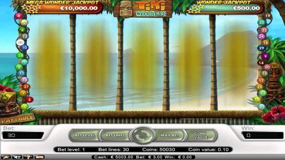 Tiki Wonders™ es un juego de máquina tragamonedas de 5 tambores y 30 líneas creadas por NetEnt. Jugar gratis en TragamonedasX.com: http://tragamonedasx.com/juegos-gratis/tiki-wonders/