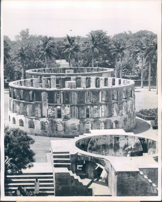 Jantar Mantar, 1957. It consists of 13 astronomy instruments. Photo credit: http://bit.ly/188zsjF