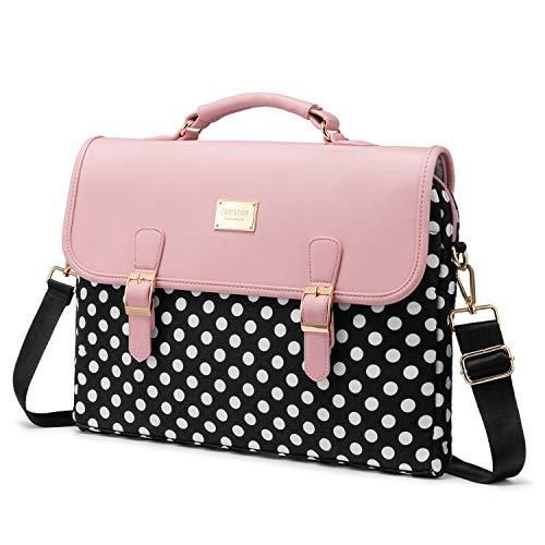 Computer Bag Laptop Bag For Women Cute Laptop Sleeve Case For Work College Slim Pink 15 6 Inch 15 6 Inch Polka Pink In 2021 Laptop Bag For Women Laptop Bag Bags