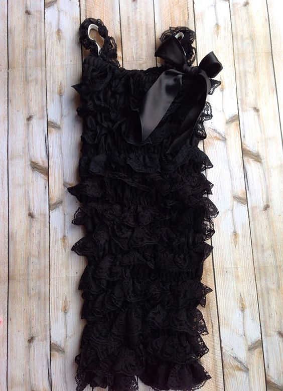 Black lace romper by PrincessPetunias123 on Etsy, $15.00