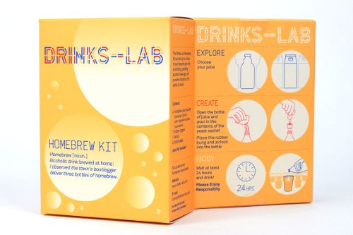 Drinks Lab, a London, UK based company, started by Rachit Amin and Chirag Amin who have introduced a home-brew kit that allows you to turn any juice of your choice into a sparkling bubbly.  We had featured a similar product in the past called Spike your juice . Both the products work on the same basic principle i.e.the yeast in the brewing kit breaks down the sugars in the juice into alcohol and carbon dioxide.