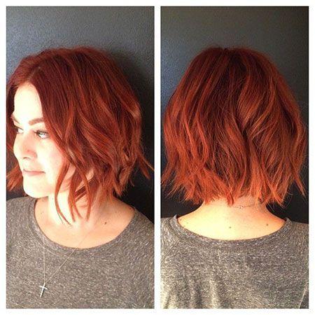 35 Striking Short Red Hairstyles Short Red Hair Hair Styles Red Bob Hair