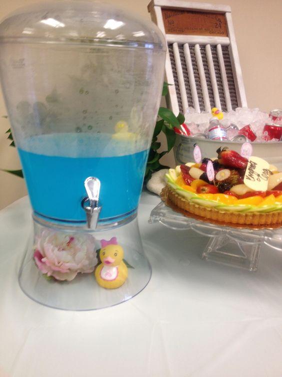 Baby Shower - Beverage.  Gatorade for a baby duck pond.