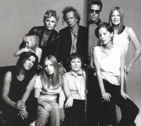 The Richards Family: Patti, Keith, Marlon, Alexandra, Ella ...