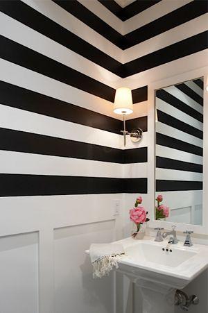 Powder rooms, Wallpaper powder rooms and Stripe wallpaper