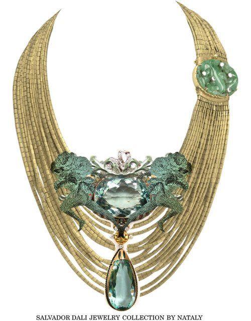 salvador dali jewelry collection jewelry for the neck pinterest salvador dali diamants et. Black Bedroom Furniture Sets. Home Design Ideas