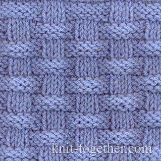 Knitting Stitches Puk : Knitulator sucht #Strickmuster: #Flechtmuster #Korbmuster Basket (Wicker) Sti...