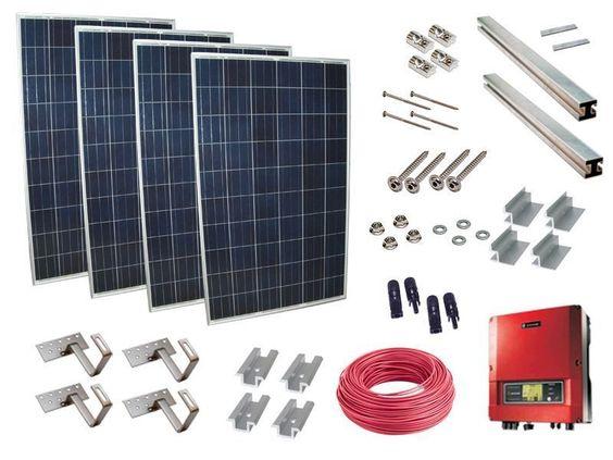 Photovoltaikanlage Bausatz 1.56 kWp zur Hausnetzeinspeisung mit Dachhaken 3158-2
