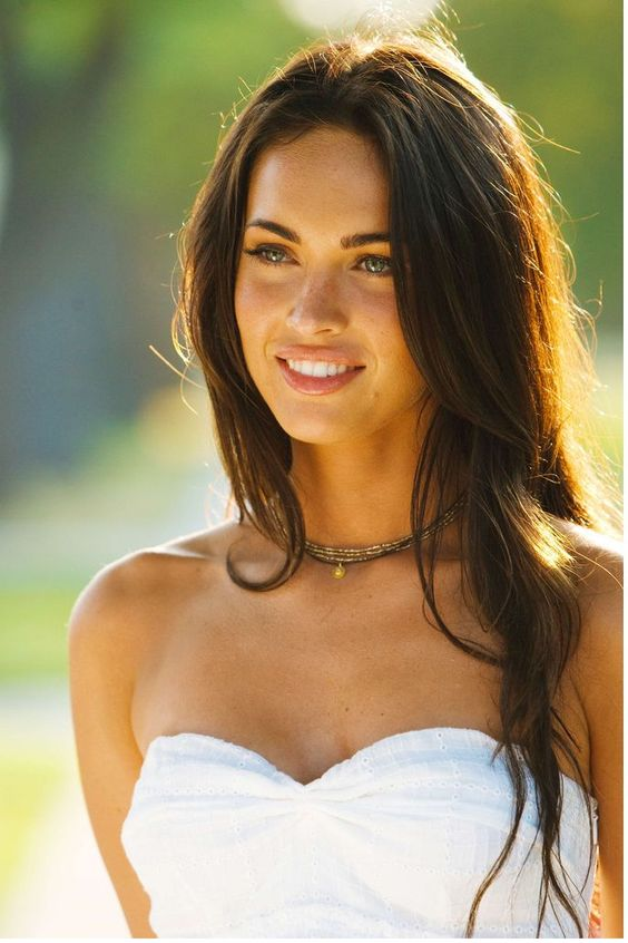 Hairstyle With Bangs   #MeganFox photos with her long wavy hairstyle with side bangs   www.beautyvirtualdistributor.com