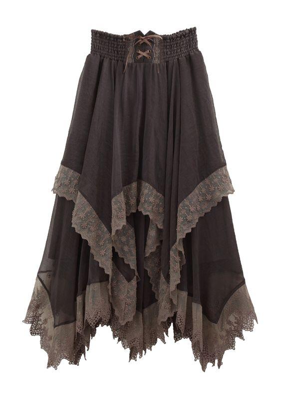 Finding Mori — Irregular Hem Long Skirt by Axes Femme