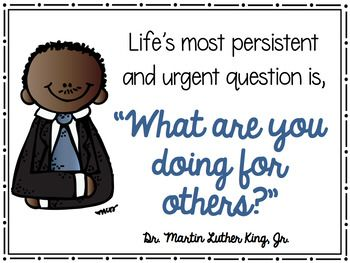 Martin Luther King Jr. Quote Posters MLK Jr *Color and ink friendly versions*