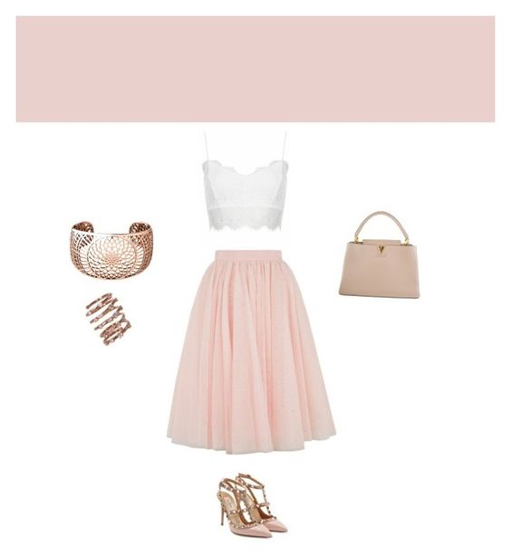 """""""Sans titre #1"""" by melyne-lebegue ❤ liked on Polyvore featuring Ted Baker, Topshop, Louis Vuitton, Valentino, Links of London and Plukka"""