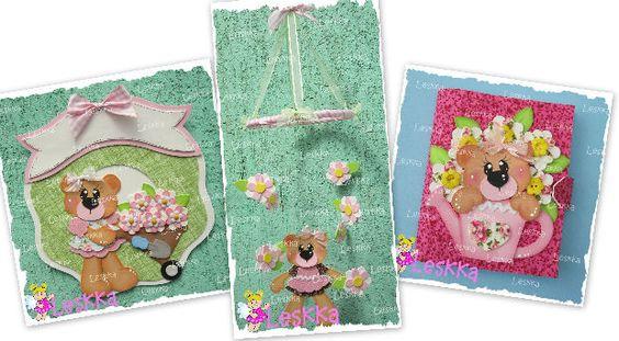 A aulinha da Ursinha Flor foi um mimo!   Olha as outras peças que fizemos!   Se você quiser fazer também adquira as suas apostilas em   htt...