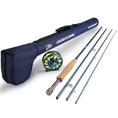 Kastking Anglers Of Honor Fly Fishing Combo 4 Pc Graphite Rod Blank 9 5 Wt Medium Fast Action Includes Fly Reel Weight Fly Fishing Rods Fly Reels Fly Rods