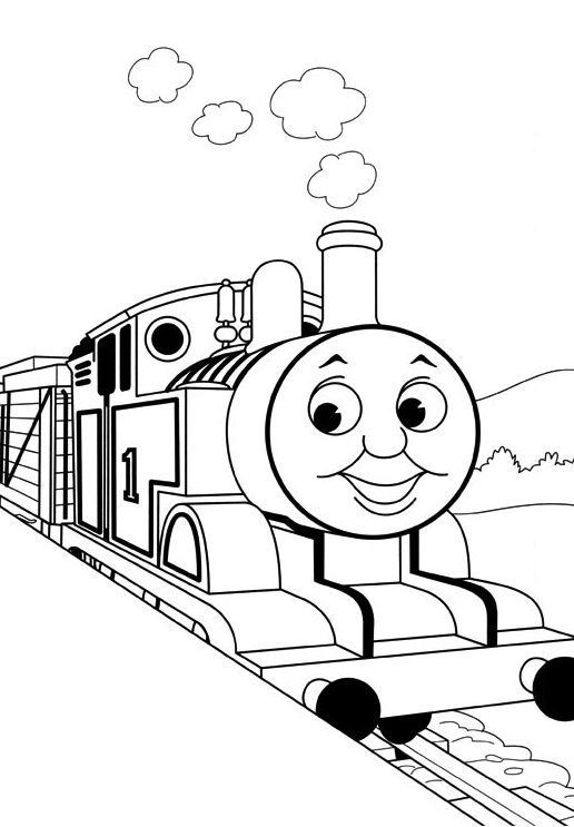 Kids Thomas The Train Coloring Pages Toby Cartoon Coloring Pages Train Coloring Pages Cartoon Coloring Pages Valentines Day Coloring Page