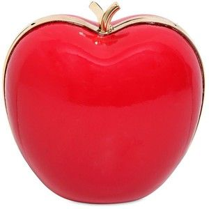 RED VALENTINO Brushed Leather Apple Shaped Clutch - Red