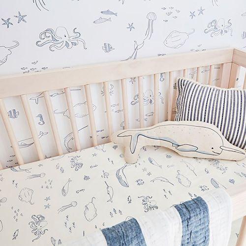 Black Narwhal Pillowcase Beach Decor Nautical Decor pillowcase bedding room decor Coastal Decor Whale Pillowcase Sea Unicorn