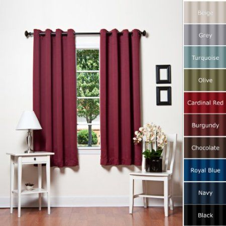Blackout Curtains blackout curtains 63 : Amazon.com: Chocolate Grommet Top Thermal Insulated Blackout ...