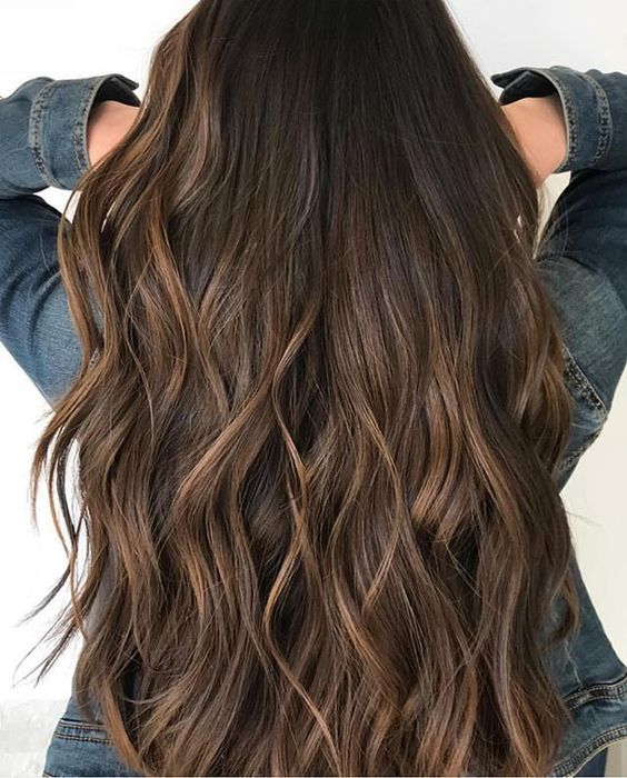 Brown chocolate hair color