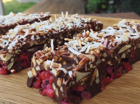 Raw Cacao, Rasberry and Coconut Superfood Bar What You'll Need 1/2 cup cacao powder 1/2 cup coconut oil 1/2 cup almond butter 1/4 cup maple syrup 1/4 cup toasted shredded coconut 1/4 cup crus…