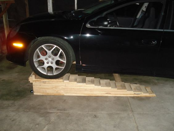 Home made car ramps how to build homemade car ramps Car lift plans