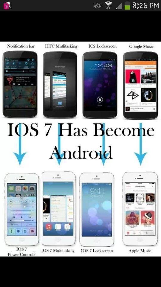 Android Jokes Iphone Vs Apple Memes Ios 7 New Ios