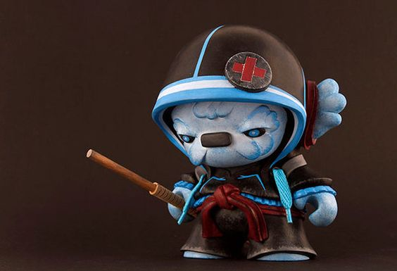 Roar With Lucas' Kisho the Urban Medic Ninja! | Designer Vinyl Toys & Art Culture | Clutter Magazine
