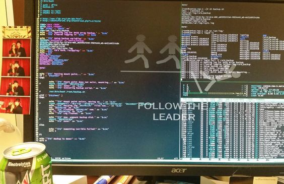 """Hard at """"work"""" #bash #tmux #programmer #linux #centos #it #servers #followtheleader by the_den_m"""