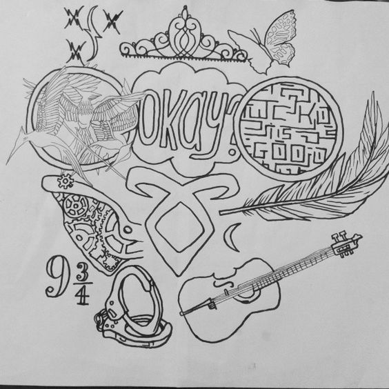 mine ;) My fandoms unite #draw #fandom #books #sketch