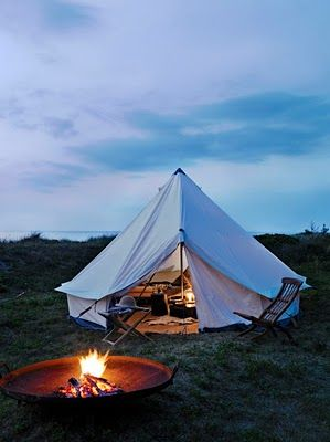 .: Fire Pits, Bell Tent, Tent Camping, Let S, Firepit, Lets Go, Camping Glamping
