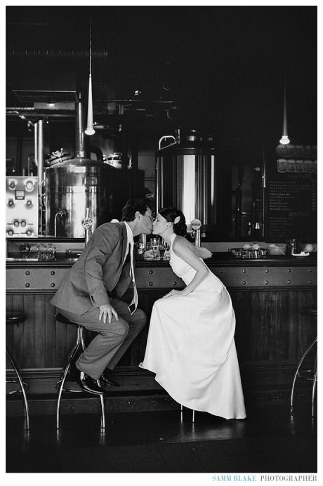 Take a wedding photo in the bar where you met