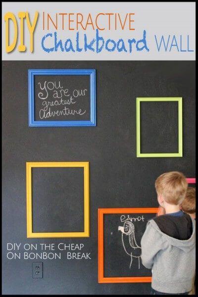 DIY Chalkboard Interactive Wall